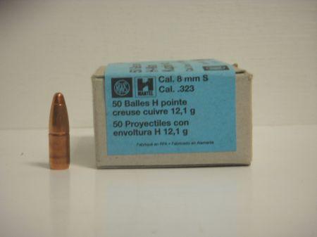 50 Ogives H RWS calibre 8 mm 187 grs R2146053