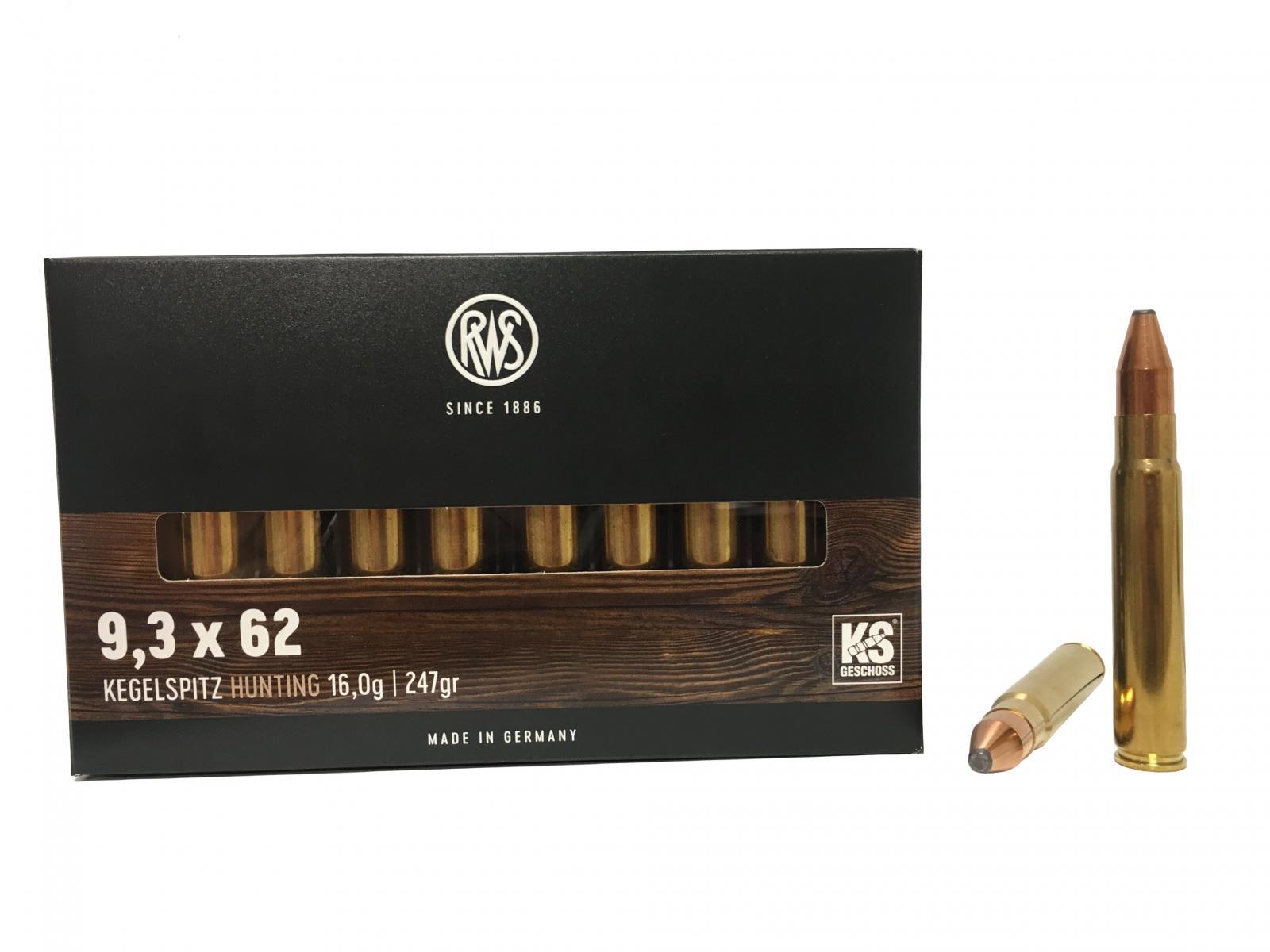 Boite de 20 cartouches RWS KS calibre 9.3 x 62  R2118181