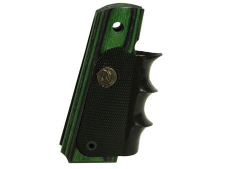 Poignée bois et caoutchouc  pour pistolet COLT 45 1911 Vert PA00432