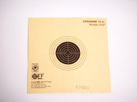 Cible carton CARABINE 10 M