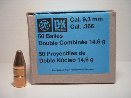 50 ogives DK RWS calibre 9.3 mm 225 grs R2146002