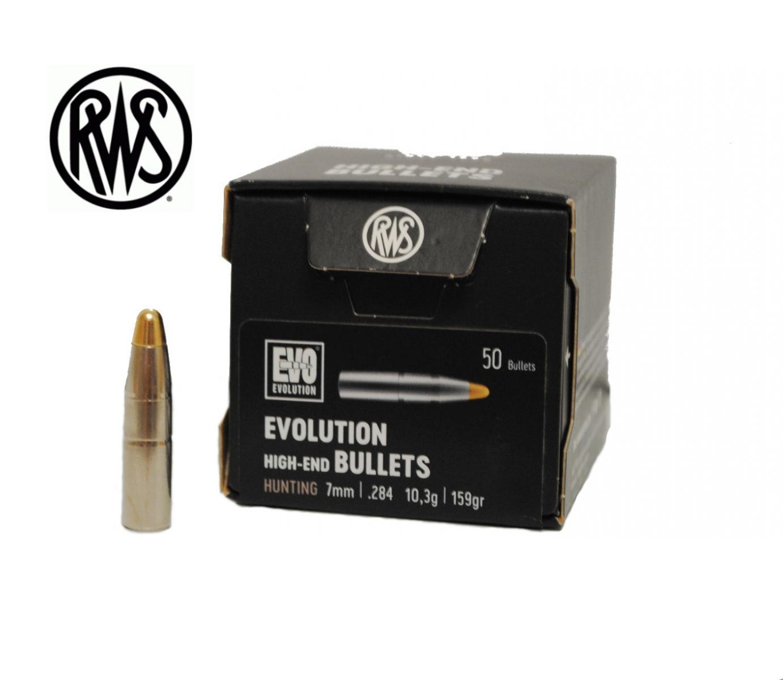 50 ogives EVO RWS Calibre 7 mm 159 grs  R2315960