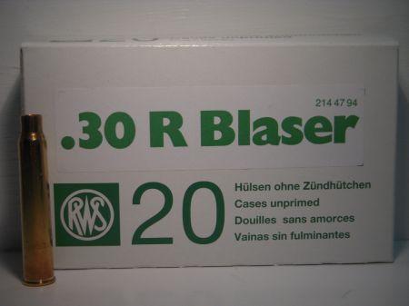 Douilles vides RWS Cal .30 R Blaser RWS30RB