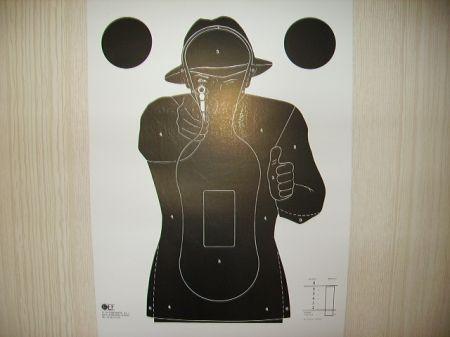 10 Cibles carton Silhouette tir rapide 7 m