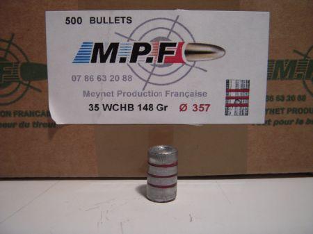 ogives 38 (.357) WC HB graissées MPF357WC
