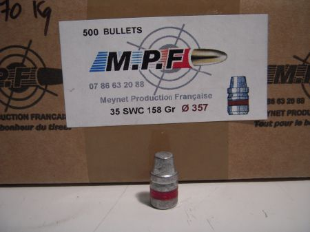 ogives 38 (.357) SWC graissées MPF357SWC