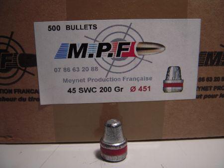 ogives 45 ( .451) SWC 200 grs graissées MPF451SWC