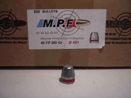 ogives 45 (.451) TC 200 grs graissées MPF45TC