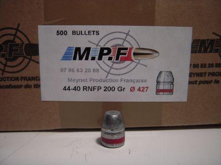 ogives 44/40 (.427) 200 grs FP graissées MPF4440