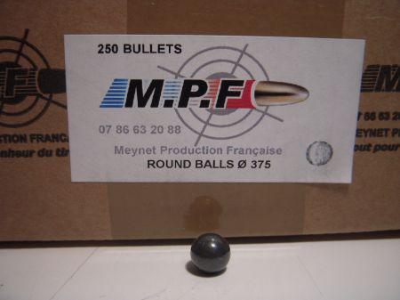 boite 250 balles rondes MPF calibre 36 (375) MPF375