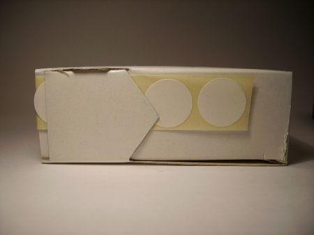 Pastilles autocollantes 15mm BLANCHES