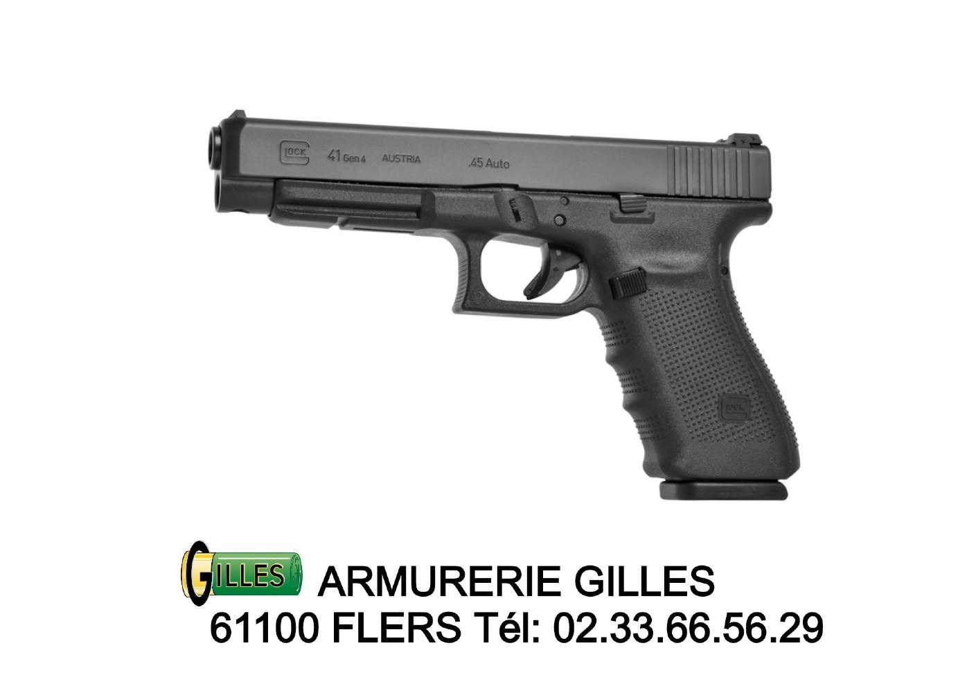 Pistolet GLOCK 41 GEN 4 Cal. 45 ACP