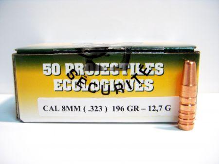 Boite de 50 ogives SOLOGNE GPA cal. 8 mm 196 grs