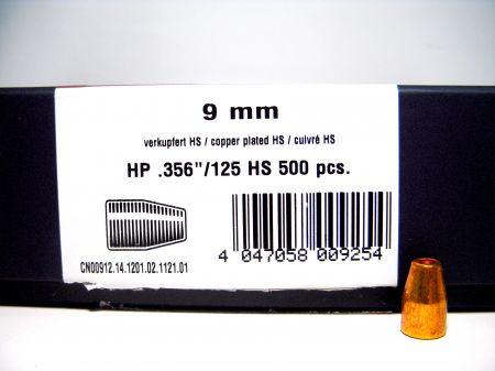 Ogives  9mm (.356)  cuivrées creuses 125 grs