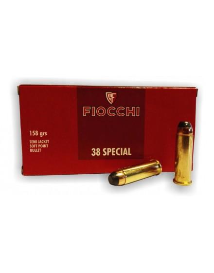 Boite de 50 cartouches FIOCCHI Cal. 38 SP SJSP 158 grs