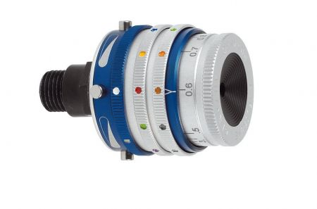 Iris de dioptre avec polarisant et filtres couleur GEHMANN 568MC
