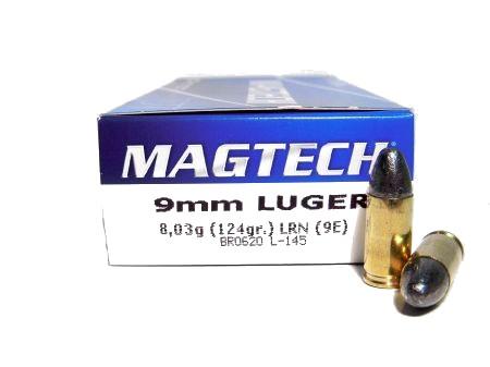 Boite 50 cartouches 9 mm MAGTECH LRN 124 grs