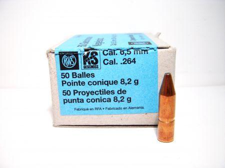 50 Ogives KS RWS Cal 6.5 mm 127 grs
