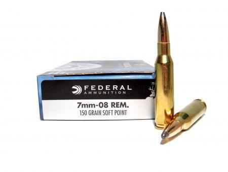 Boite de 20 cartouches FEDERAL cal. 7mm08 REM