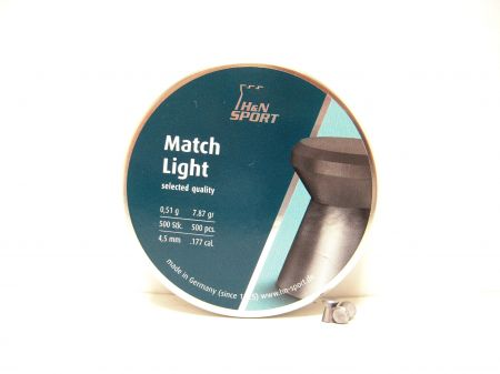 Boites de 500 plombs HN MATCH LIGHT 4.49