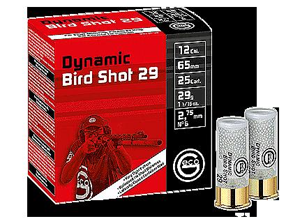 Boite de 25 cartouches GECO cal. 12/65 DYNAMIC BIRD SHOT 29 gr