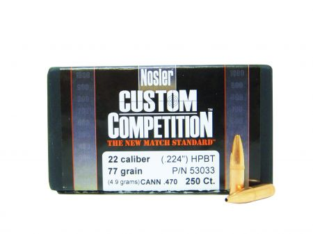 Cal. 22 (224) Custom Competition HPBT 77 grs N53033