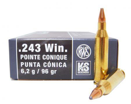 Boite de 20 cartouches RWS 243 WIN 96 gr