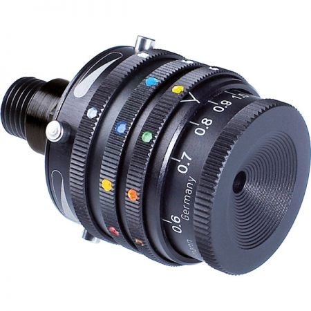 Iris de dioptre avec polarisant et filtres couleur GEHMANN G568