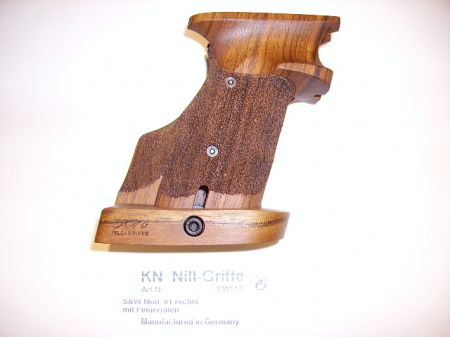 Poignée anatomique en bois pour pistolet Smith & Wesson 41 Droitier SW113