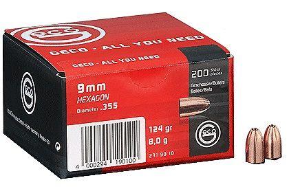 200 ogives GECO 9 mm (.355) 124 gr HEXAGON
