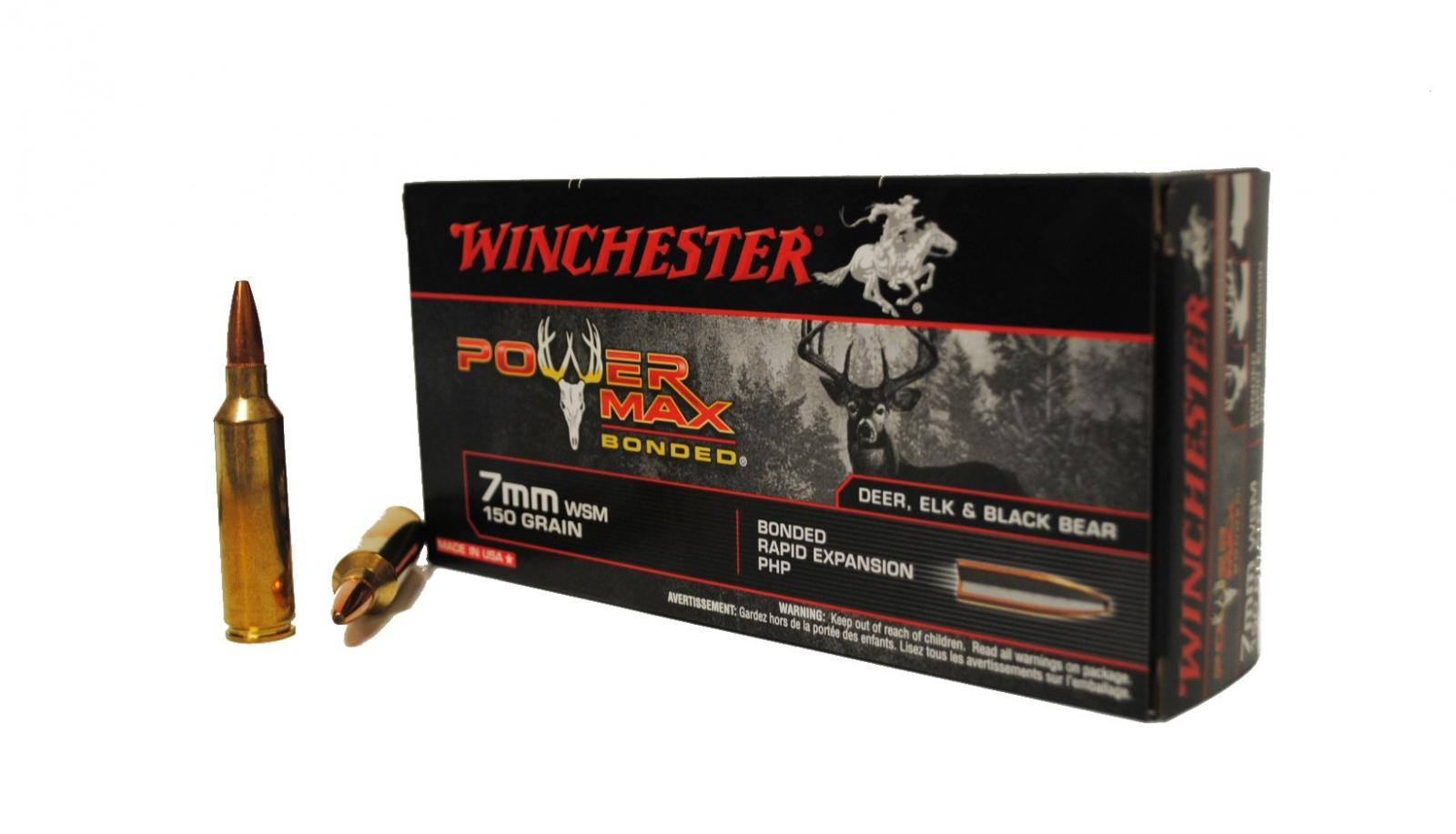 Cart. Winchester 7 mm WSM 150 grs Power Max Bonded