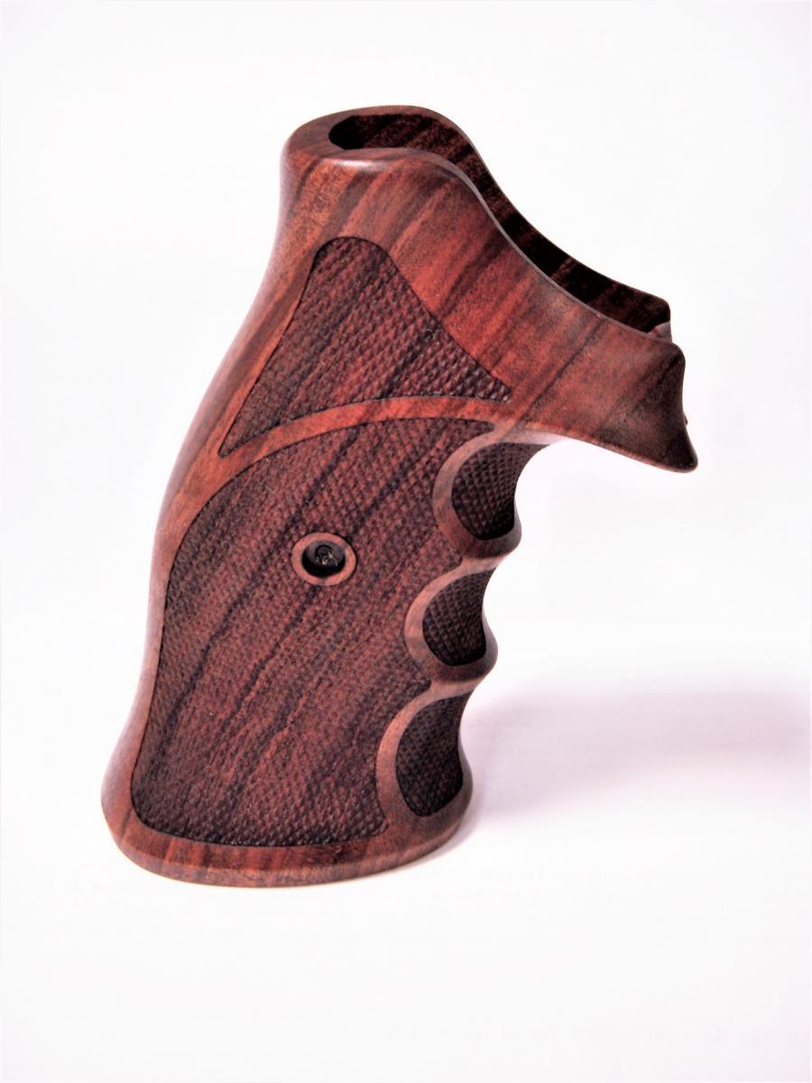 Poignée ambidextre en bois pour revolver MR73