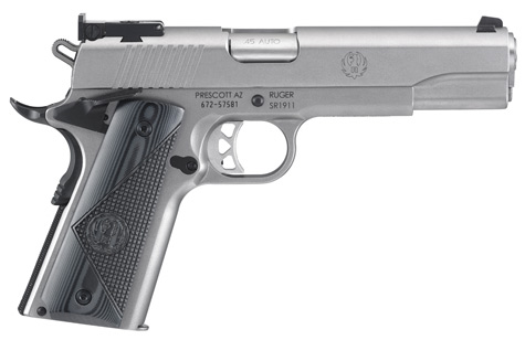 Pistolet RUGER SR1911 TARGET INOX 45 ACP