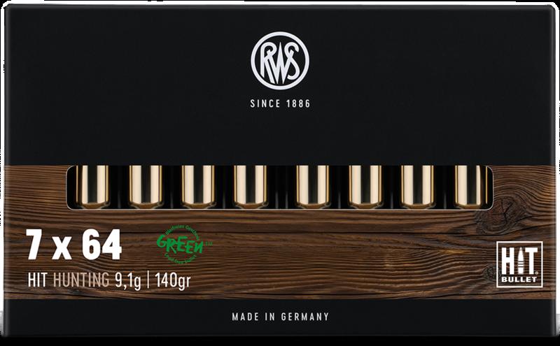 Boite de 20 cartouches 7X64 RWS HIT (Sans Plomb) 140 grs