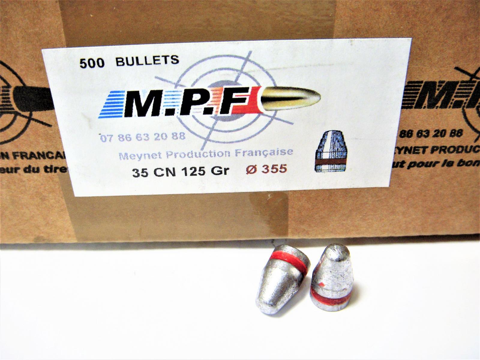 Ogives 9mm (.355) CN 123 grs graissées