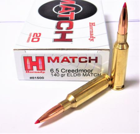 Cartouches 6.5 Creedmore HORNADY ELD MATCH 140 grs