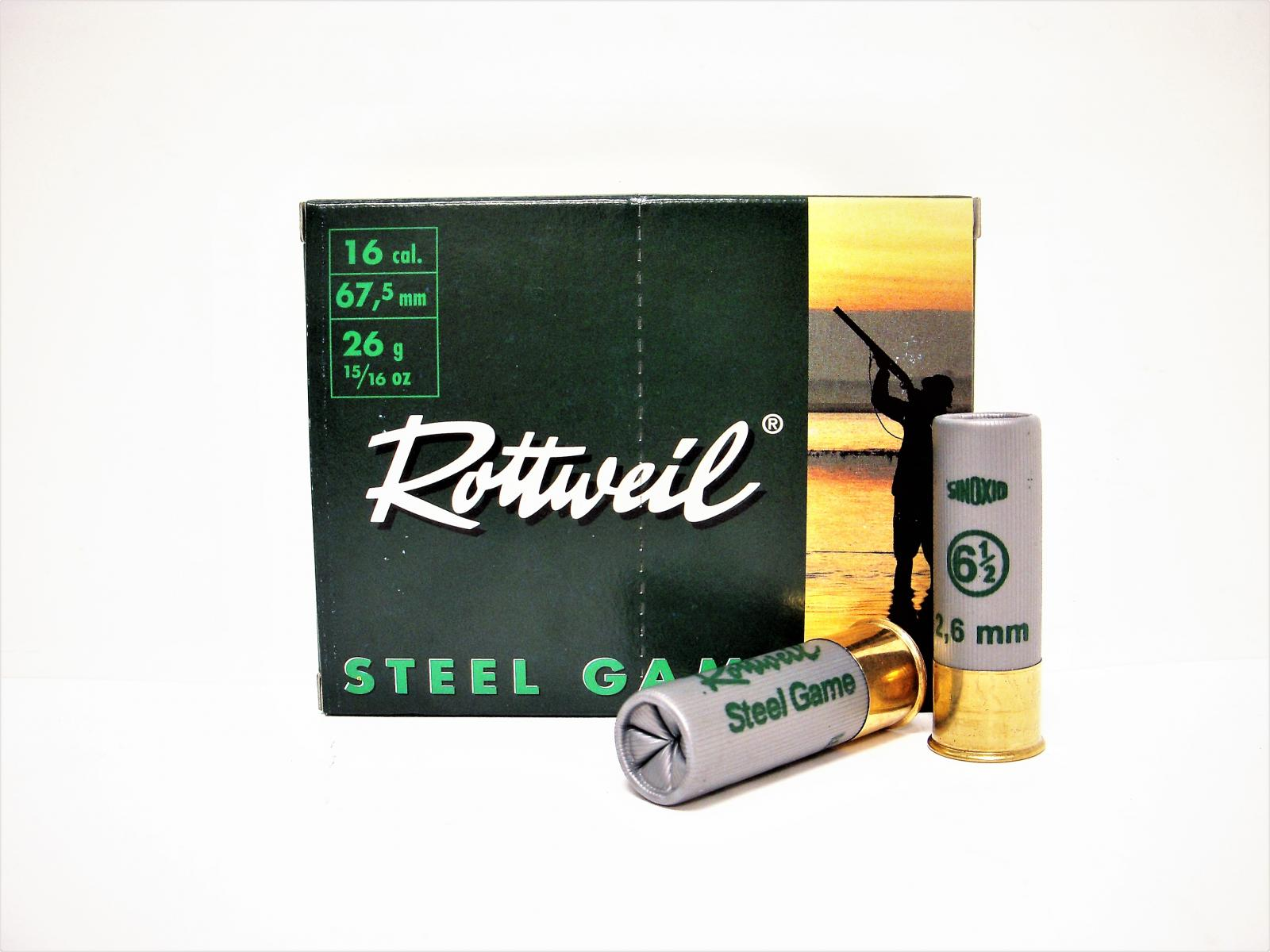 Boite de 10 Cart. ROTTWEIL Calibre 16/67.5 ACIER 26 gr