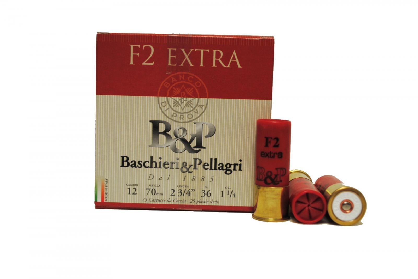 Boite de 25 cartouches B&P Cal. 12/70 F2 EXTRA 36 gr