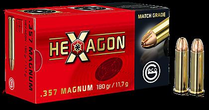 Boite de 50 cartouches GECO HEXAGON 357 Mag 180 grs