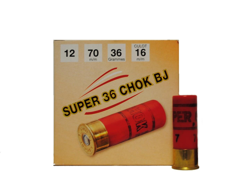 Boite de 25 cartouches 12 / 70 grand culot 36 grs SUPER P1