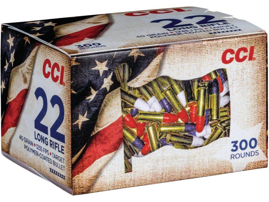 Boite de 300 cartouches CCI 22 LR Bleu Blanc Rouge