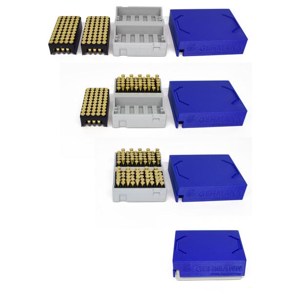 Boite de rangement plastique pour 100 cartouches 22lr G869D