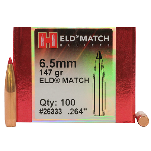 Cal 6.5mm (.264) ELD MATCH 147 gr H26333