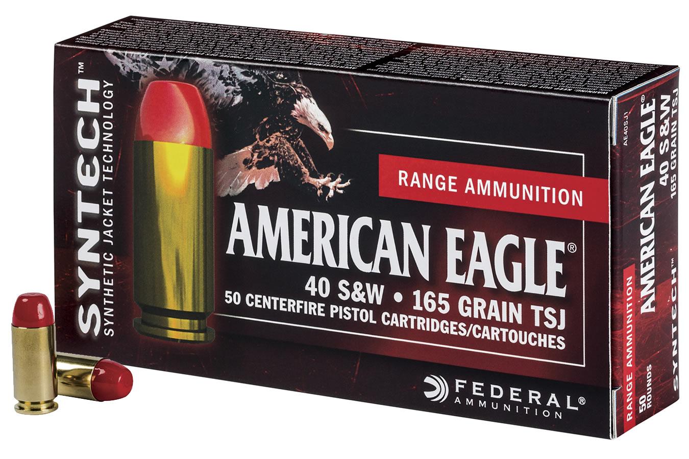 Boite de 50 cartouches Federal American Eagle 40 S&W 165 grains TSJ