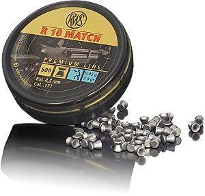 Boite 500 plombs 4.5 R10 MATCH 0.45 g 4.49 R1045449