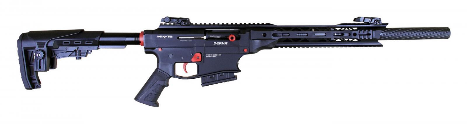 Fusil DERYA ARMS MK 12 calibre 12 NOIR / ROUGE AS101S
