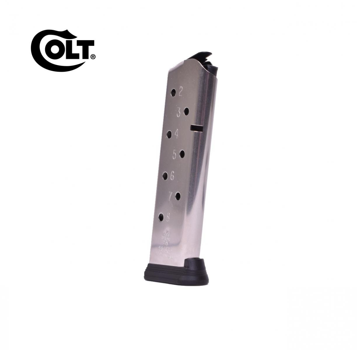 Chargeur 8 cps pour COLT 1911 Government Cal. 45 ACP Inox