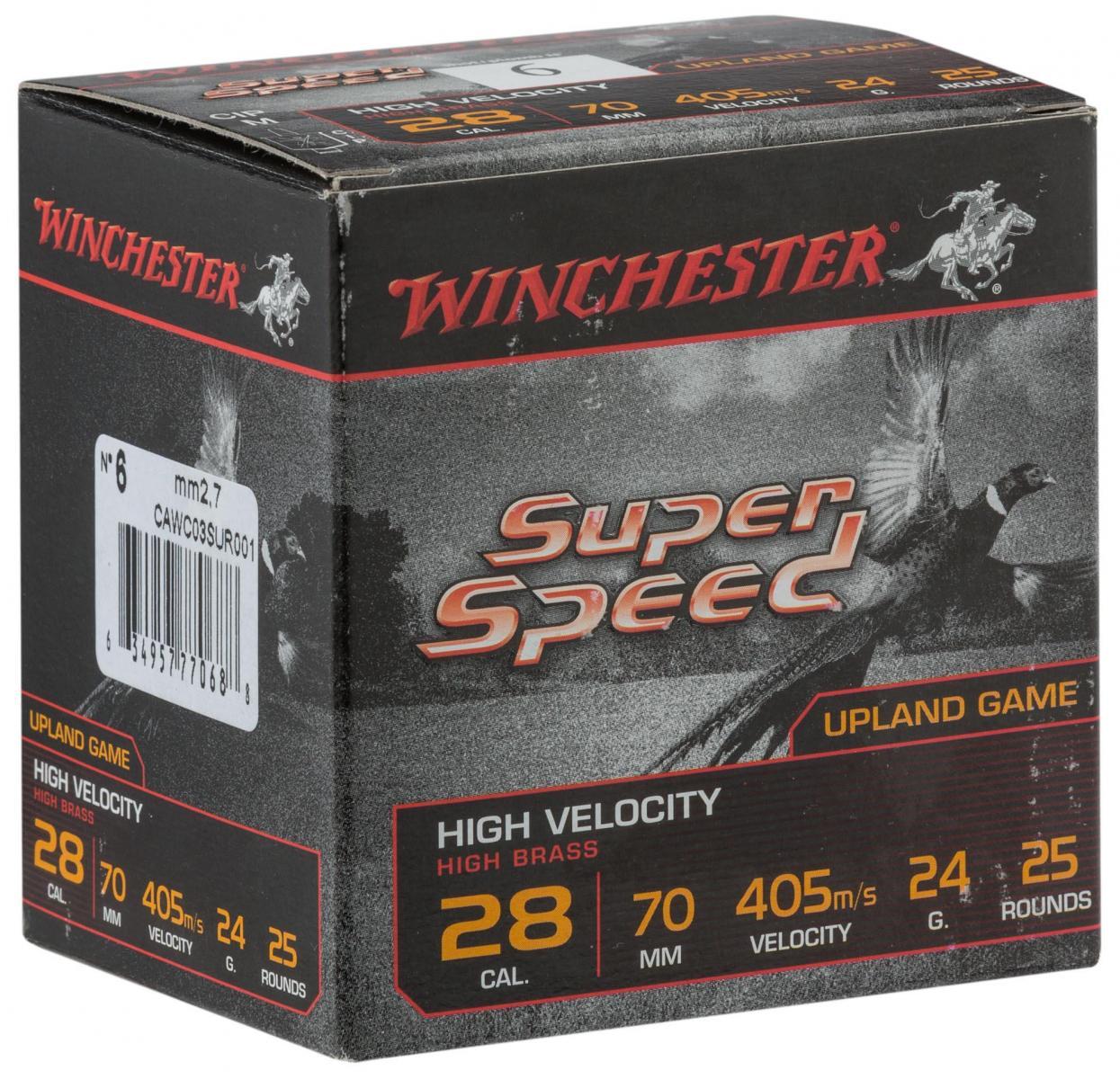 Boite de 25 cartouches calibre 28 Super Speed