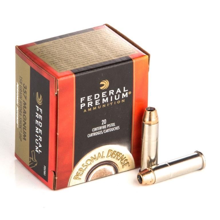 Boite 20 cartouches 357 mag FEDERAL HYDRASHOK