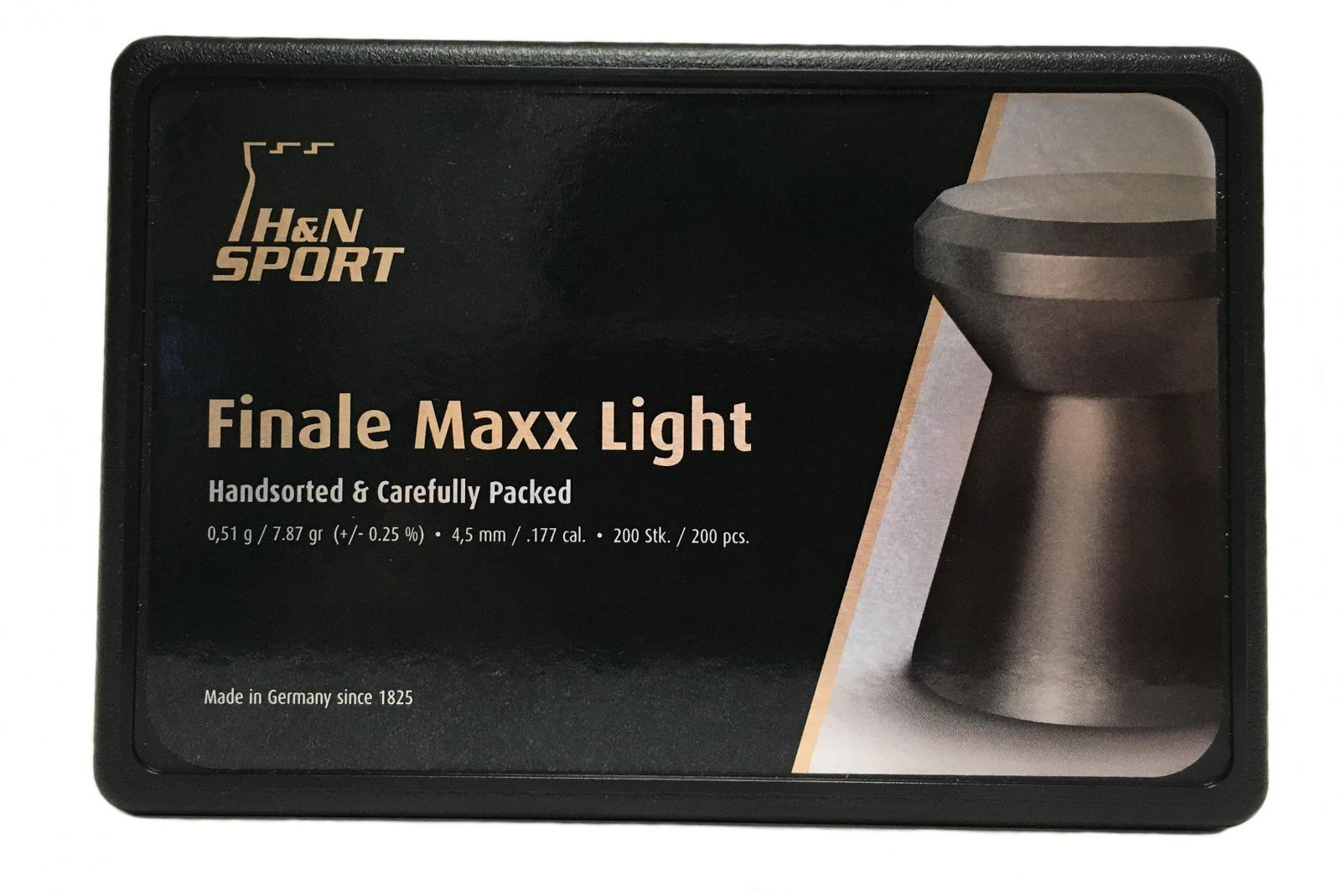 Boite de 200 plombs HN FINALE MAXX LIGHT 4.50